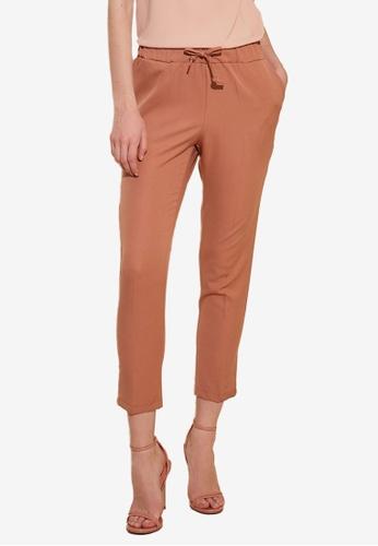 Trendyol pink Tie Waist Slim Fit Pants F60FAAAB6BC59EGS_1