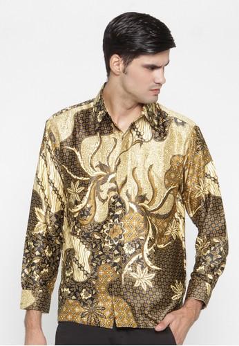 Waskito Kemeja Batik Semi Sutera - KB 15406 - Yellow