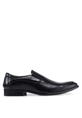 UniqTee black Formal Slip on with Stitch DAA78SH1055A32GS_1