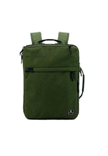 MORAL green Union Convertible Backpack - Basil E7B01AC11C6EBBGS_1