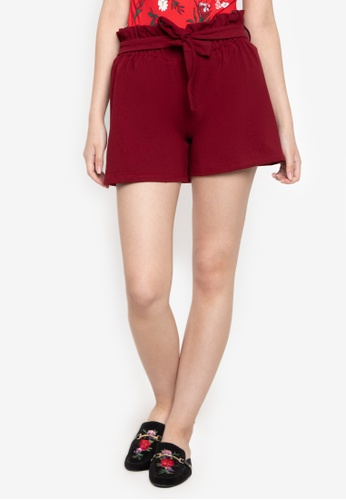D Fashion Engineer red Paper Bag Shorts 2E05AAACADAB5DGS_1