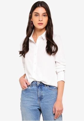 Vero Moda white Nicky Long Sleeve Shirt D1BA7AABEAB2F4GS_1