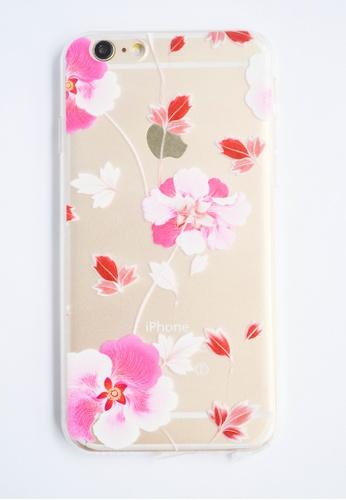 Fancy Cellphone Cases multi Flower Soft Transparent Case for iPhone 6 FA644AC43FUIPH_1