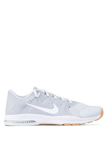 Nike grey and white Men's Nike Zoom Train Complete Training Shoes NI126SH21MGOMY_1