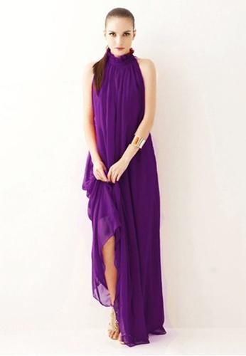 Twenty Eight Shoes purple VANSA Chiffon Maxi Dress  VCW-D0183 317E9AACF3C67BGS_1