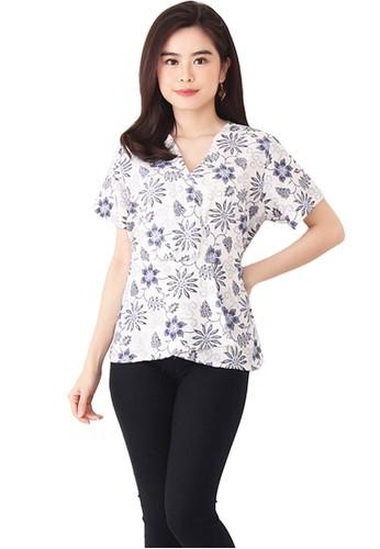 Flike Batik multi Blouse Kimono Motif Puteh Putri Ayundari 7B0D5AAE8A81D4GS_1