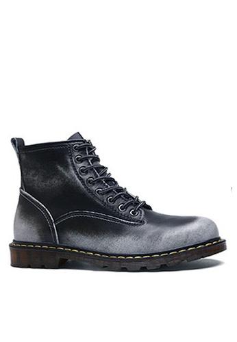 Twenty Eight Shoes grey Stylish Leather Mid Boots VMB89027 8247CSH4B77864GS_1