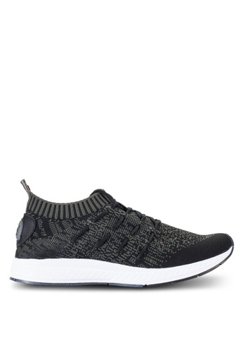 Louis Cuppers black Knitted Sneakers LO977SH05RECMY_1