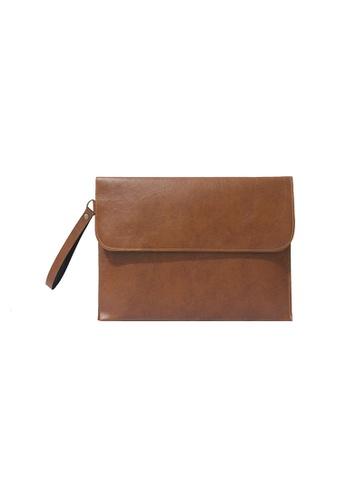 "Knocks brown 13"" Brighton Laptop Case (Light Brown) KN307AC48HSHSG_1"