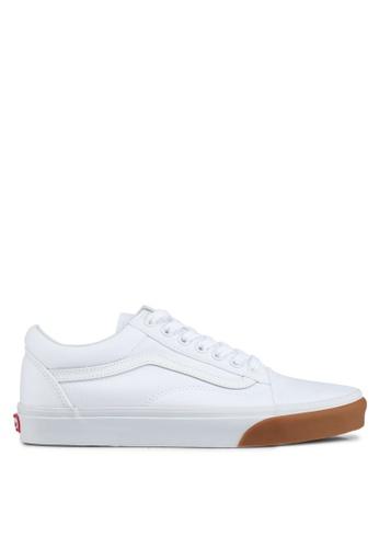VANS white Old Skool Gum Bumper Sneakers VA142SH0SWN8MY_1