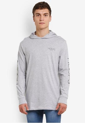 Cotton On grey Hooded Long Sleeve Tee CO372AA0RZ7VMY_1