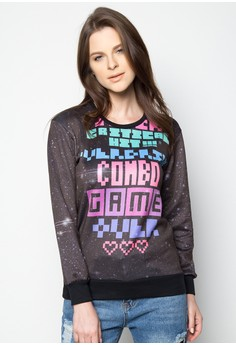 All Over Print Curiositee Pullover