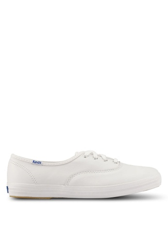 Keds white Champion Core Leather Sneakers KE942SH0S7Q2MY_1