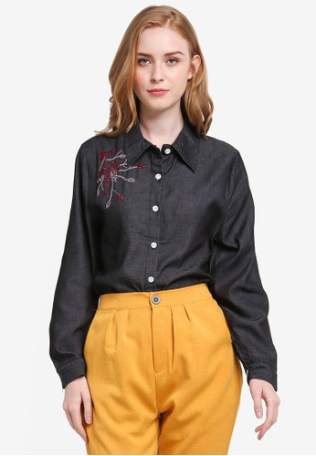 BYN black Embroidery Shirt 83B48AACED1002GS_1