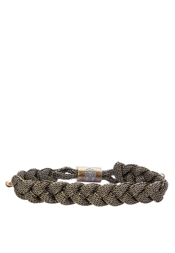 Rastaclat green Shoelace Bracelet: Electroplate RA072AC0JYOJPH_1