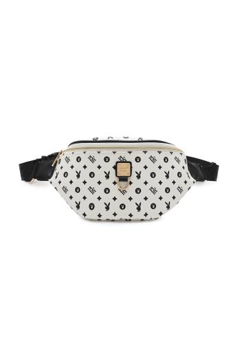 PLAYBOY BUNNY white Women's Waist Bag / Waist Pouch / Belt Bag D483AAC37B8690GS_1