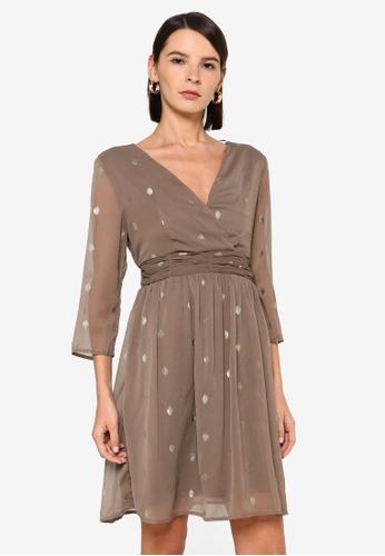 Vero Moda brown Vuma 3/4 Dress CBC19AA35D8BE9GS_1