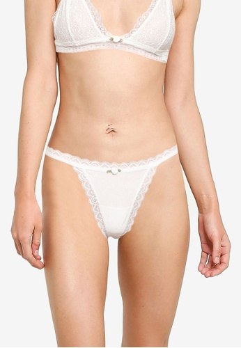 Cotton On Body white Fifi Lace Tanga G String Brief 50FE4USF8803B9GS_1