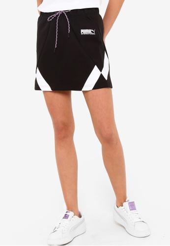 PUMA black PUMA International Double-Knit Women's Skirt A5E48AA2147CEFGS_1