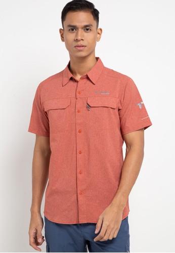 Columbia orange Irico Men's Short Sleeve Shirt C4554AA9E5FAD0GS_1