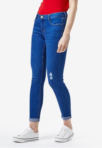 Dorothy Perkins blue Ocean Blue Rip Harper Jeans 270A1AA532F66DGS_1