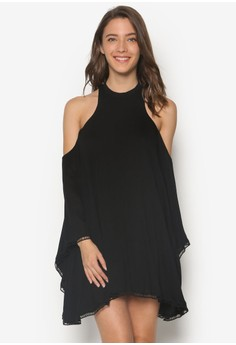 Cold Shoulder Flare Dress