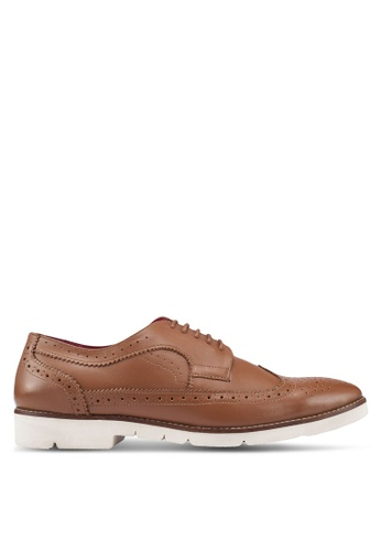 Acuto brown Leather Brogue Shoes 39D2ASHB140B66GS_1