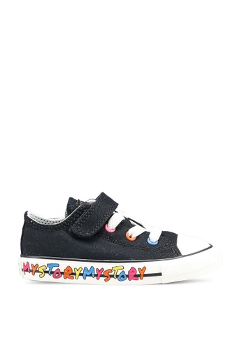 Converse black and white and pink Chuck Taylor All Star 1V Ox My Story Sneakers 9AFBCKSF6766D9GS_1