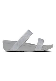 6a1991853693b7 FitFlop silver Fitflop Lottie Glitzy Slide (Silver) 6F57DSH82E13A9GS 1