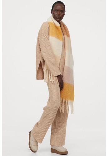 H&M beige Knitted trousers 65BDBAA6324B02GS_1