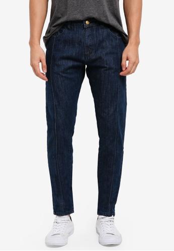 ZALORA blue Styleline Detail Slim Fit Jeans 6344EAA7E5E790GS_1