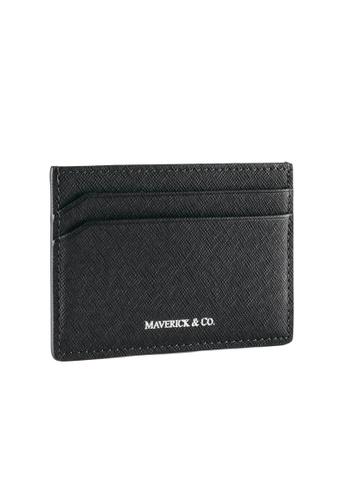 Maverick & Co. black Maverick & Co. Sartorial Leather Cardholder Black DFDA1AC8E8B01AGS_1