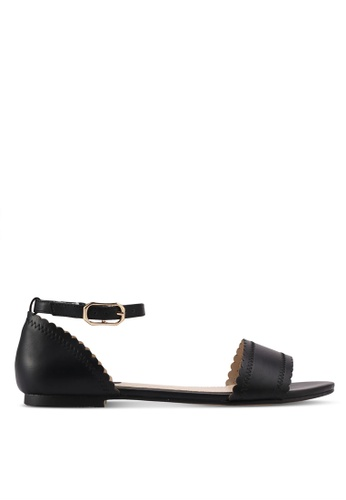 ZALORA black Ankle Strap Sandals 05D1ESHE2323F8GS_1