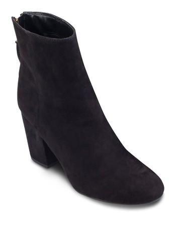拉鍊仿麂皮粗跟踝esprit門市靴, 女鞋, 鞋