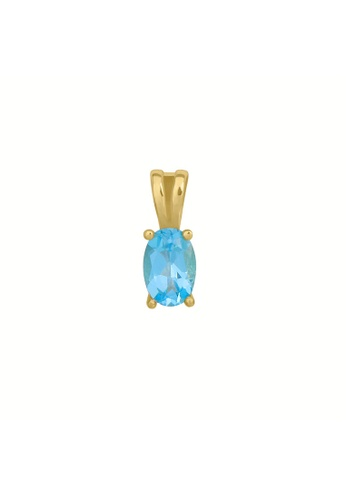GEMLINE JEWELRY blue Birthstone Oval Pendant March- Aquamarine colored Cubic Zirconia A919AACC9D2207GS_1
