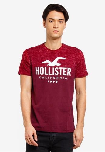 Hollister red Short Sleeve Ombre T-Shirt 267B2AAF7B8226GS_1
