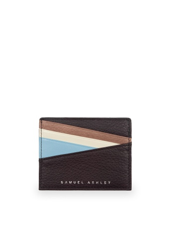 Samuel Ashley purple Bronx ID Card Holder - Raisin/Light Blue 25DA6ACEC0BC2DGS_1