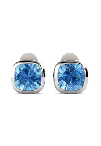 Her Jewellery blue and silver Rom Earrings -  Made with premium grade crystals from Austria HE210AC0H98BSG_1