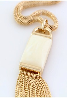 Kimberley Faux Stone Tasseled Necklace
