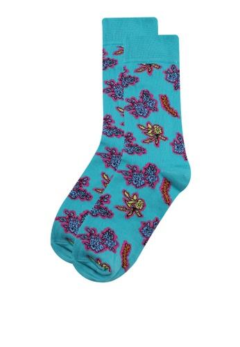 Topman green Green Floral Socks A8253AA4174BF5GS_1