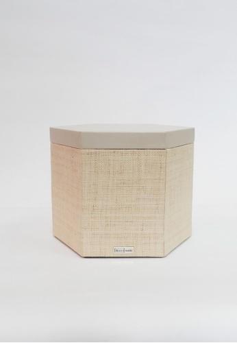 Grassroots grey Hexagonal Box (Large) 3809AHLAED67B5GS_1