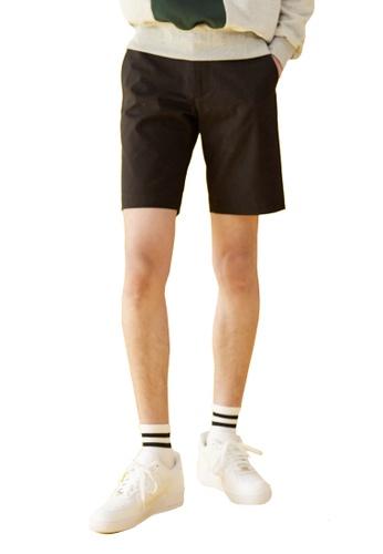 Bonnie&Blanche black Plain Cotton Shorts BO457AA0GIIBSG_1