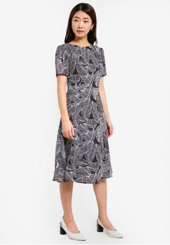 ZALORA black Short Sleeve Midi Dress 35022AA8AEA44EGS_1
