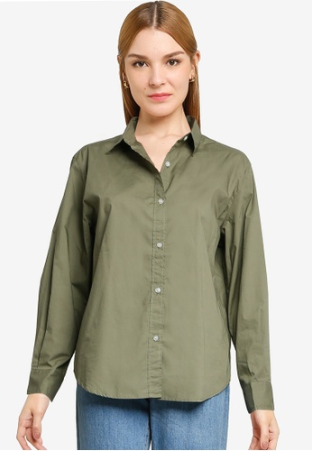 LOWRYS FARM green Long Sleeves Buttoned Shirt B28BAAA94BDA9CGS_1