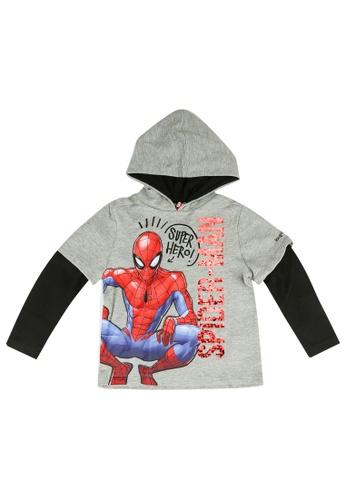 Desigual grey Spiderman Hoodie C8089KAADBB8E6GS_1