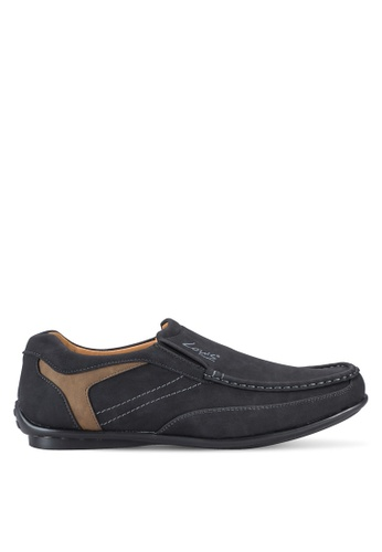 Louis Cuppers black Stitch Detail Loafers LO977SH53AWGMY_1