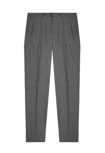 Gieves & Hawkes 灰色 男士純綿羊毛直筒西褲 6EF4DAA14C2673GS_1