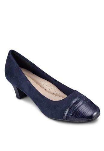異材質zalora 包包評價拼接中跟鞋, 女鞋, 鞋