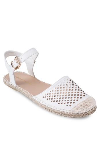 Coast 沖孔繞踝麻編涼鞋, 女鞋, esprit台灣網頁鞋