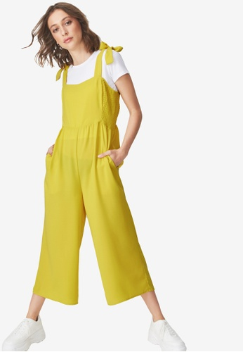 Cotton On yellow Woven Alexa Strappy Jumpsuit 8BE4CAA6FFF70FGS_1